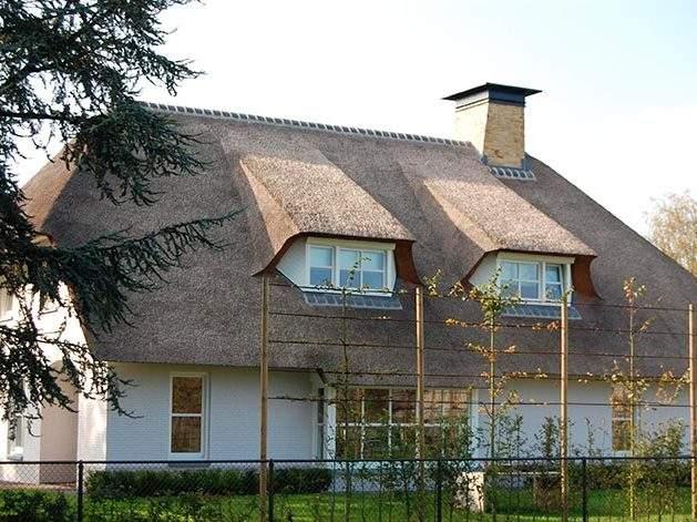 Referentie Rietdekkersbedrijf Molenaar: rieten dak woonhuis Geffent