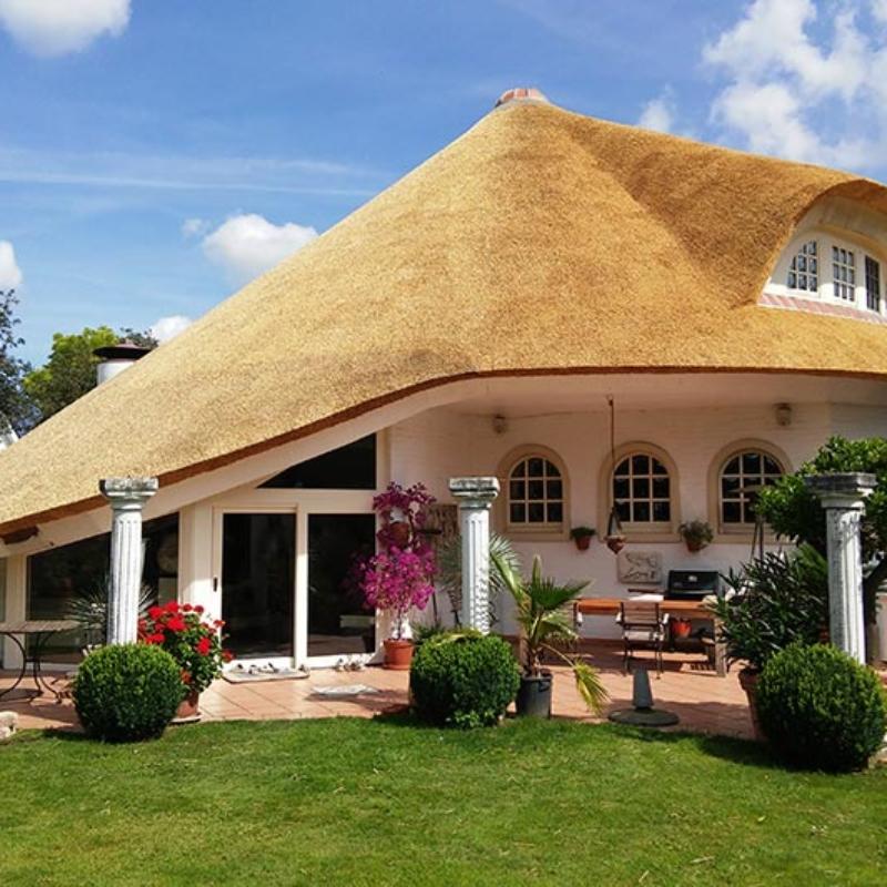 Referentie Rietdekkersbedrijf Molenaar: rieten dak woonhuis Duitsland
