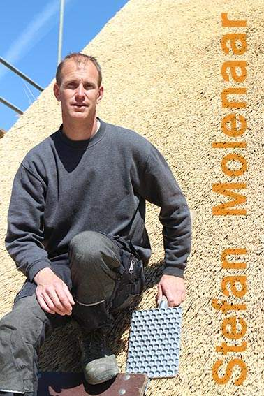 Stefan Molenaar, Rietdekkersbedrijf Molenaar te Geffen, Noord-Brabant